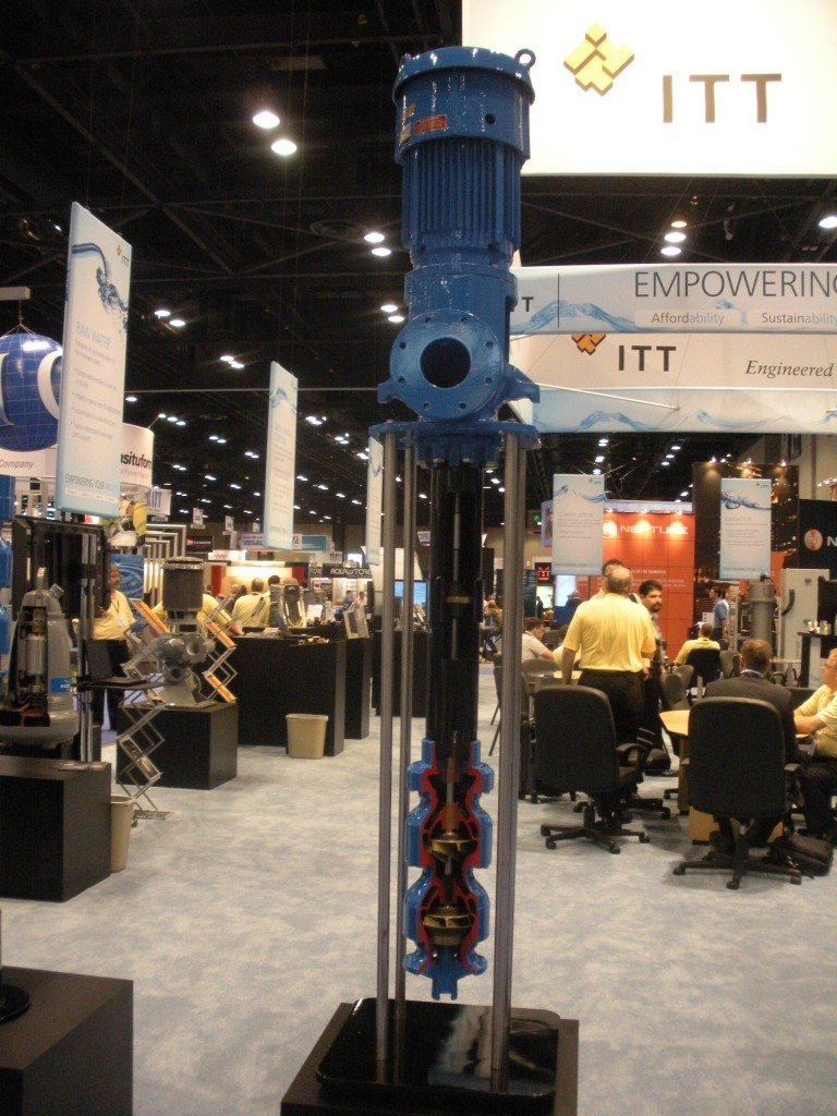 Vertical Turbine Pump at a Trade Show