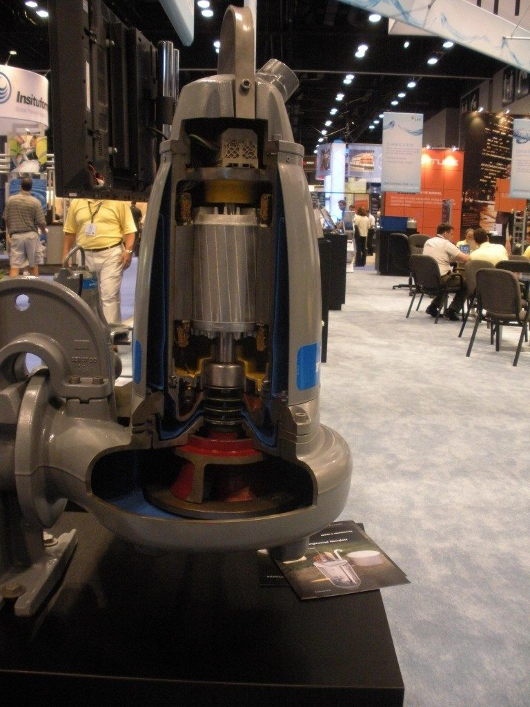 Submersible Pump Cutaway at a Trade Show
